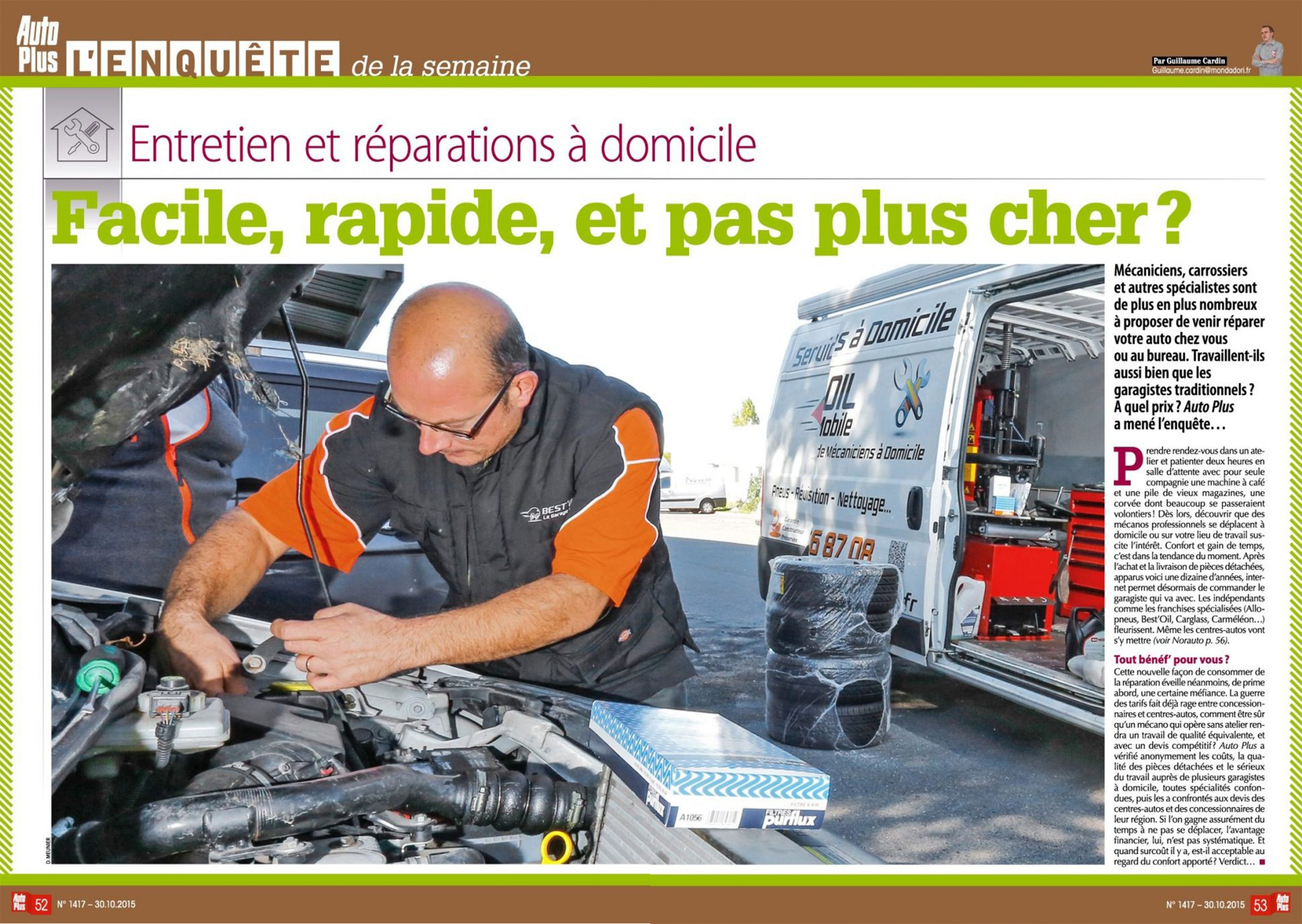 Extrait article Best'Oil dans magazine Auto Plus 2015